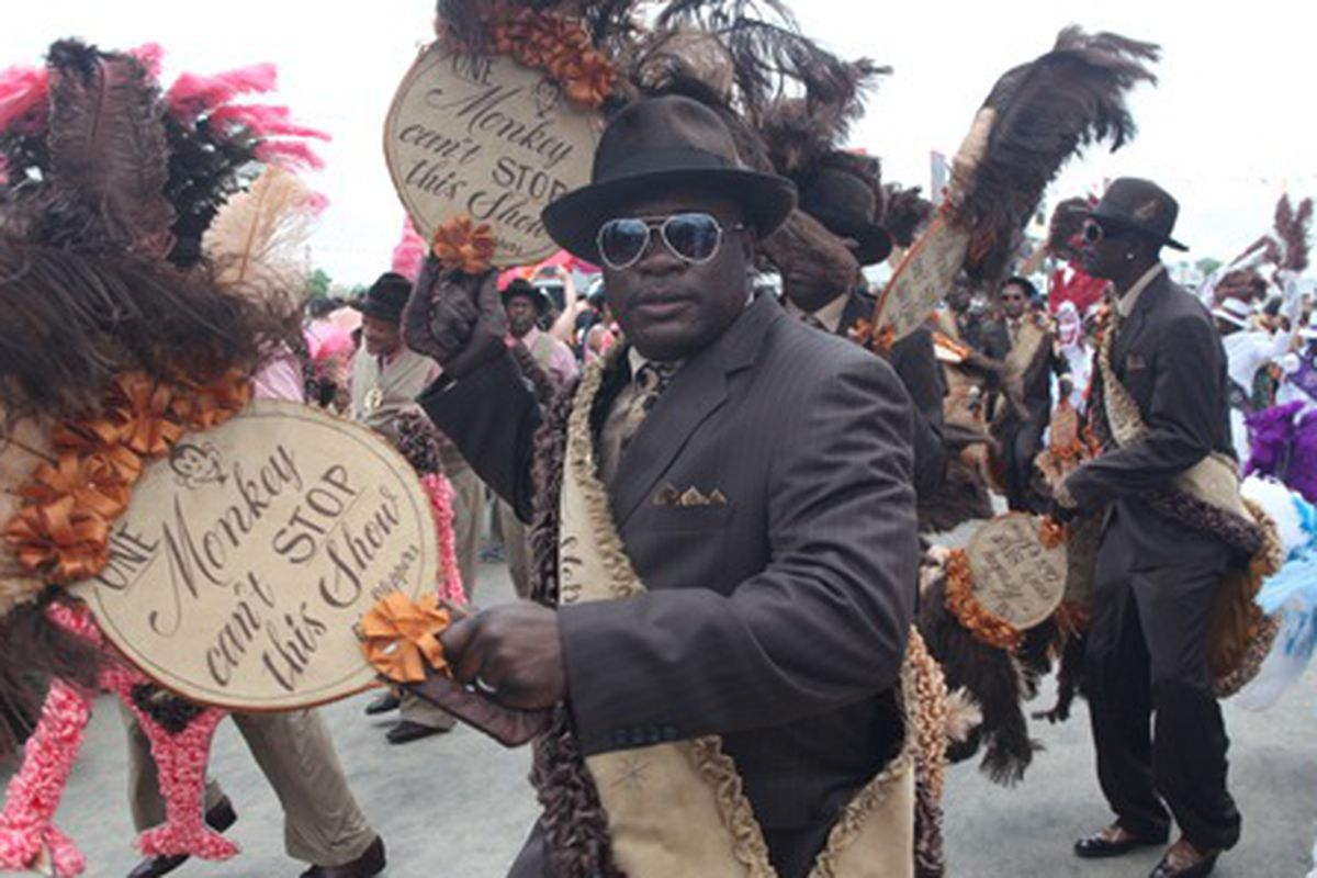 A second line at the first weekend of Jazz Fest 2012.