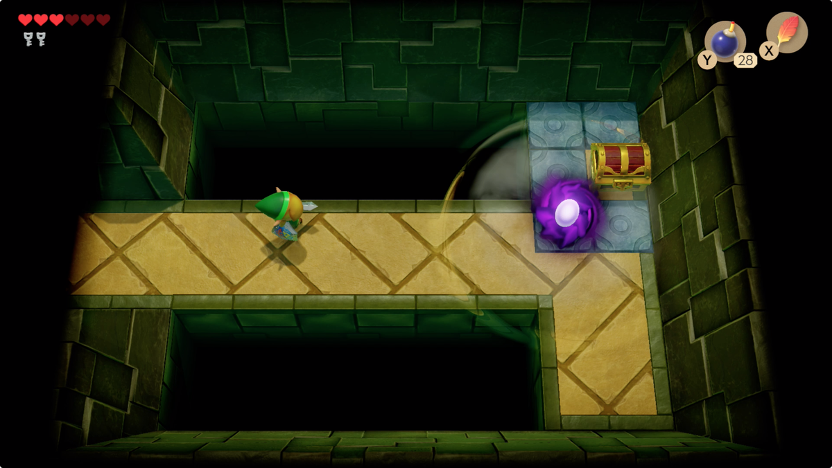 Link's Awakening Key Cavern Pegasus Boots let you run at the Vacuum Mouth to attack it