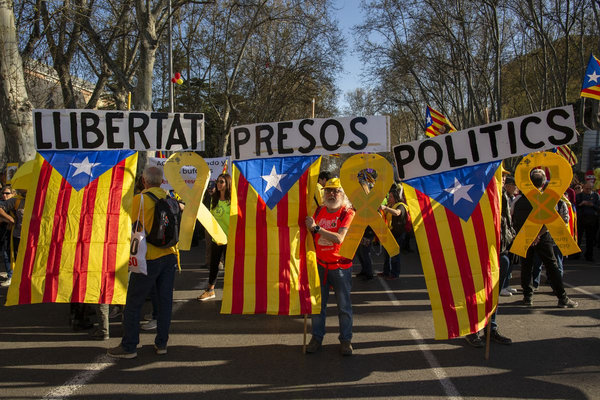 Demonstration In Support Of Catalonian Independence