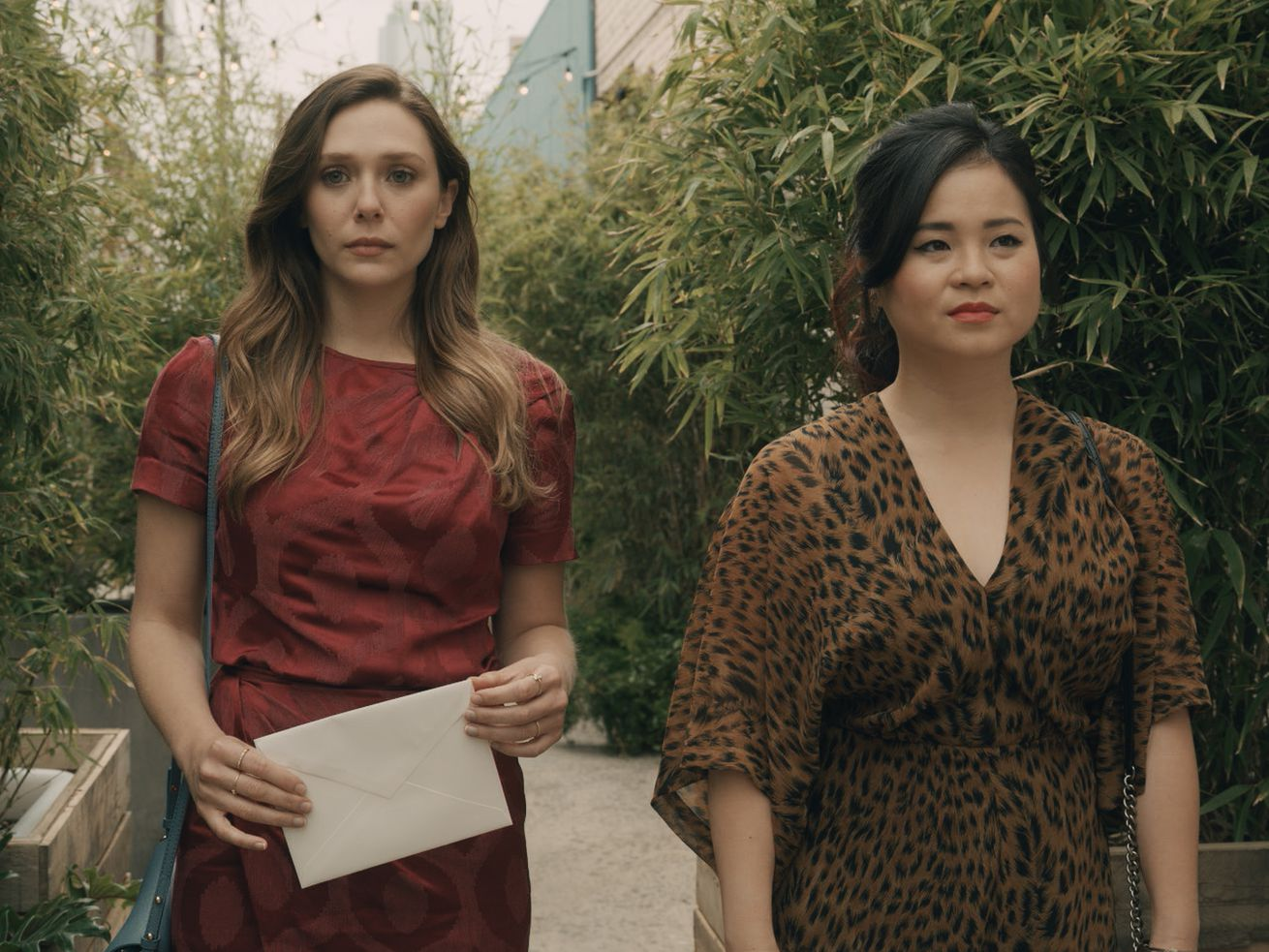 Elizabeth Olsen and Kelly Marie Tran star in Sorry for Your Loss.