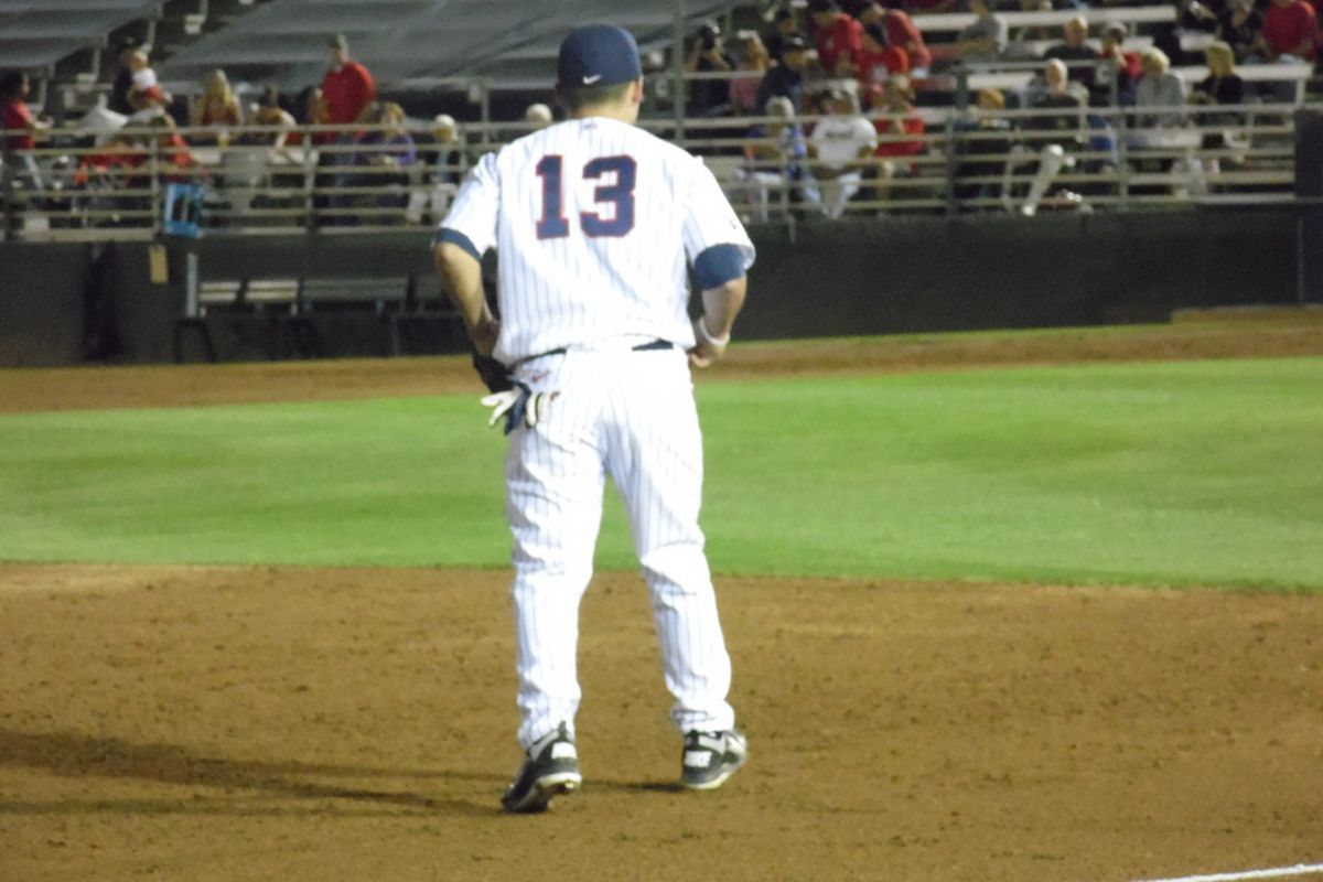 Cody Ramer had two hits in the first game of 2014 for Arizona