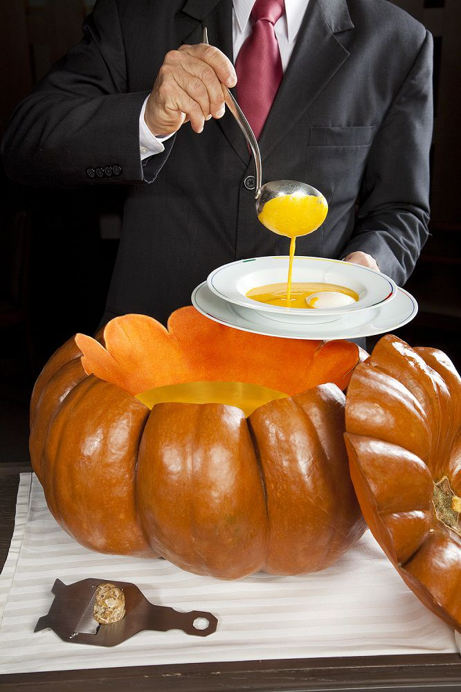 White truffle pumpkin soup