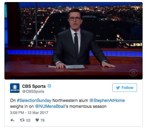 WATCH: Stephen Colbert on Northwestern's NCAA milestone - Chicago