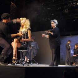 Oh, there was also a live hairstyling demonstration that involved lots and lots of Sebastian hairspray.