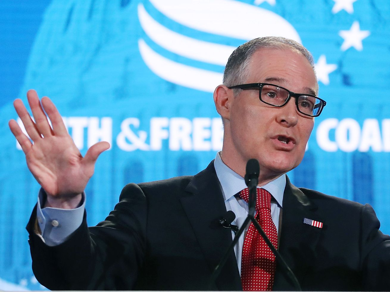 EPA Administrator Scott Pruitt at the Faith and Freedom Coalition Road to Majority Policy Conference on June 8.