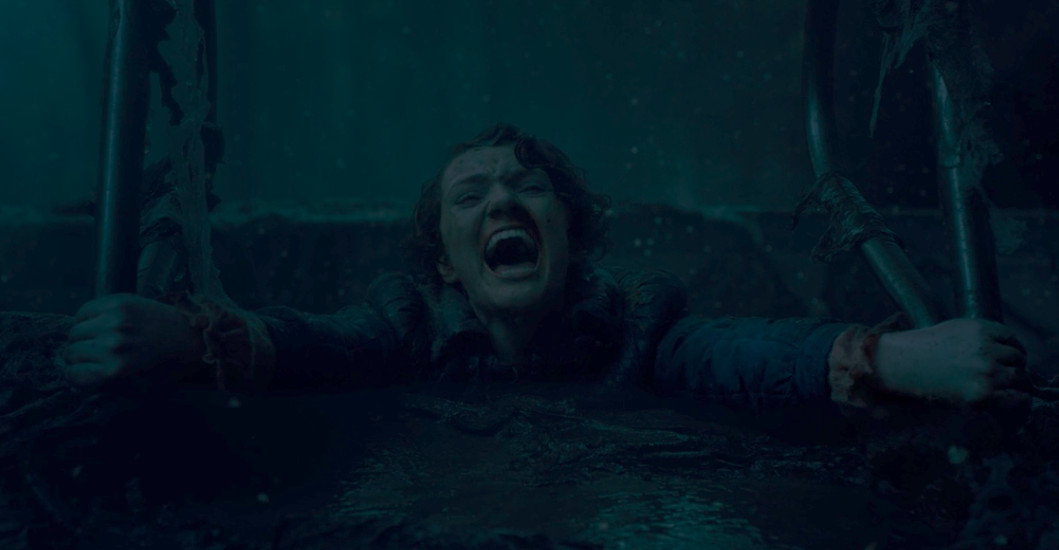Barb from Stranger Things getting sucked into the Upside Down