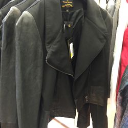 Leather jacket, $430 (was $1,075)