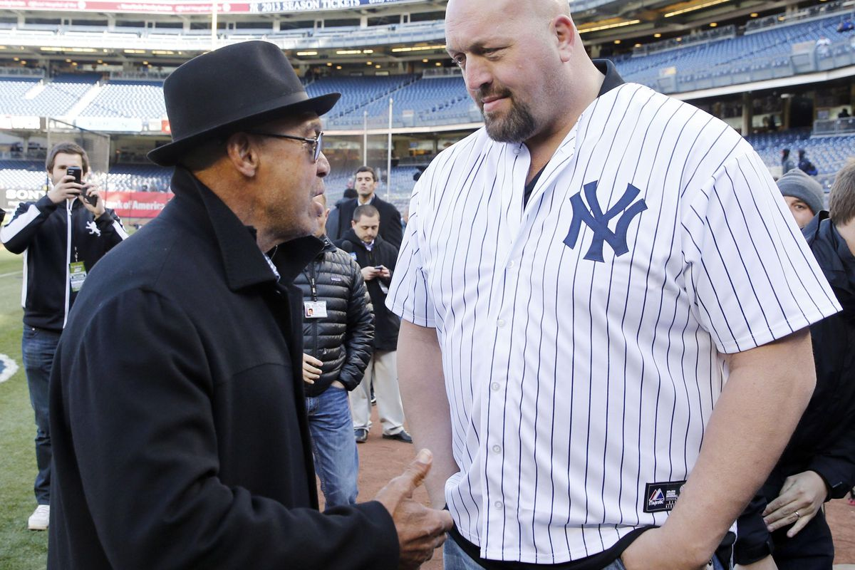 This is Reggie Jackson and wrestler The Big Show.  Figured you'd want to see this.