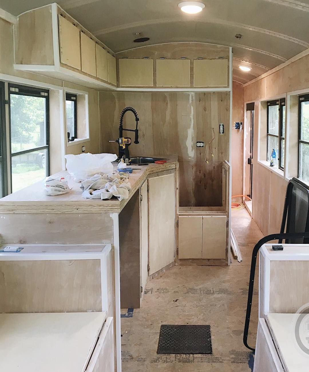 Converted School Bus Houses Family Of 6 In 250 Square Feet
