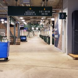 A look down the right field concourse