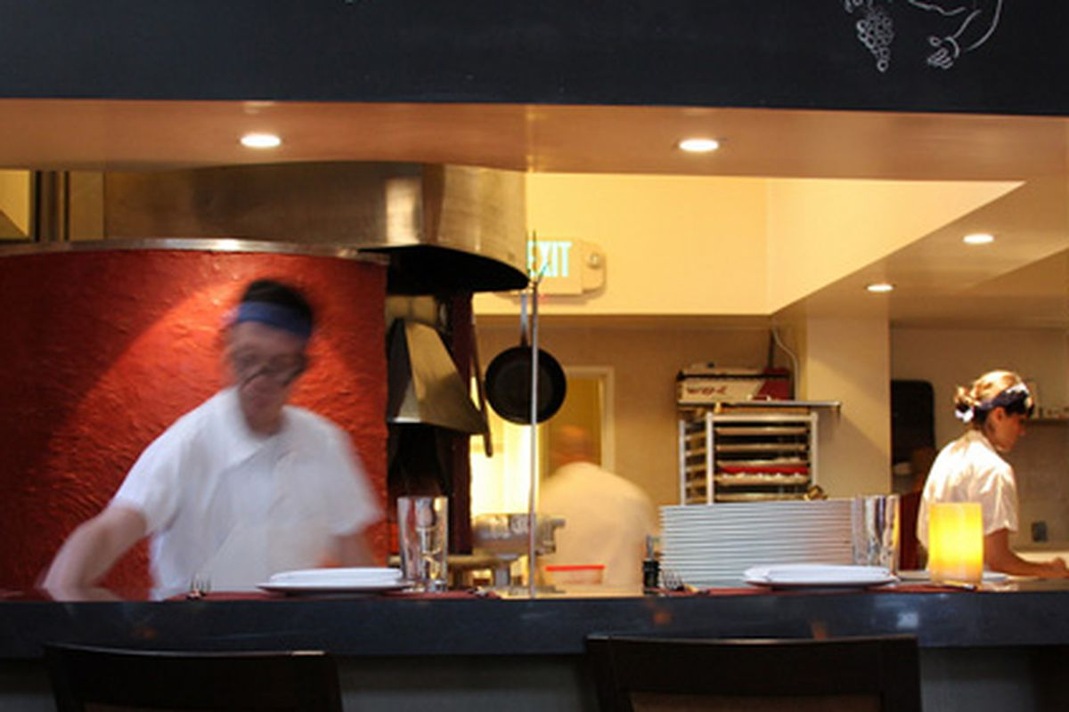 LA: The kitchen at Riva.