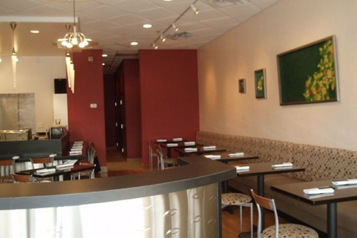 The dining room at Tomo Japanese Restaurant.
