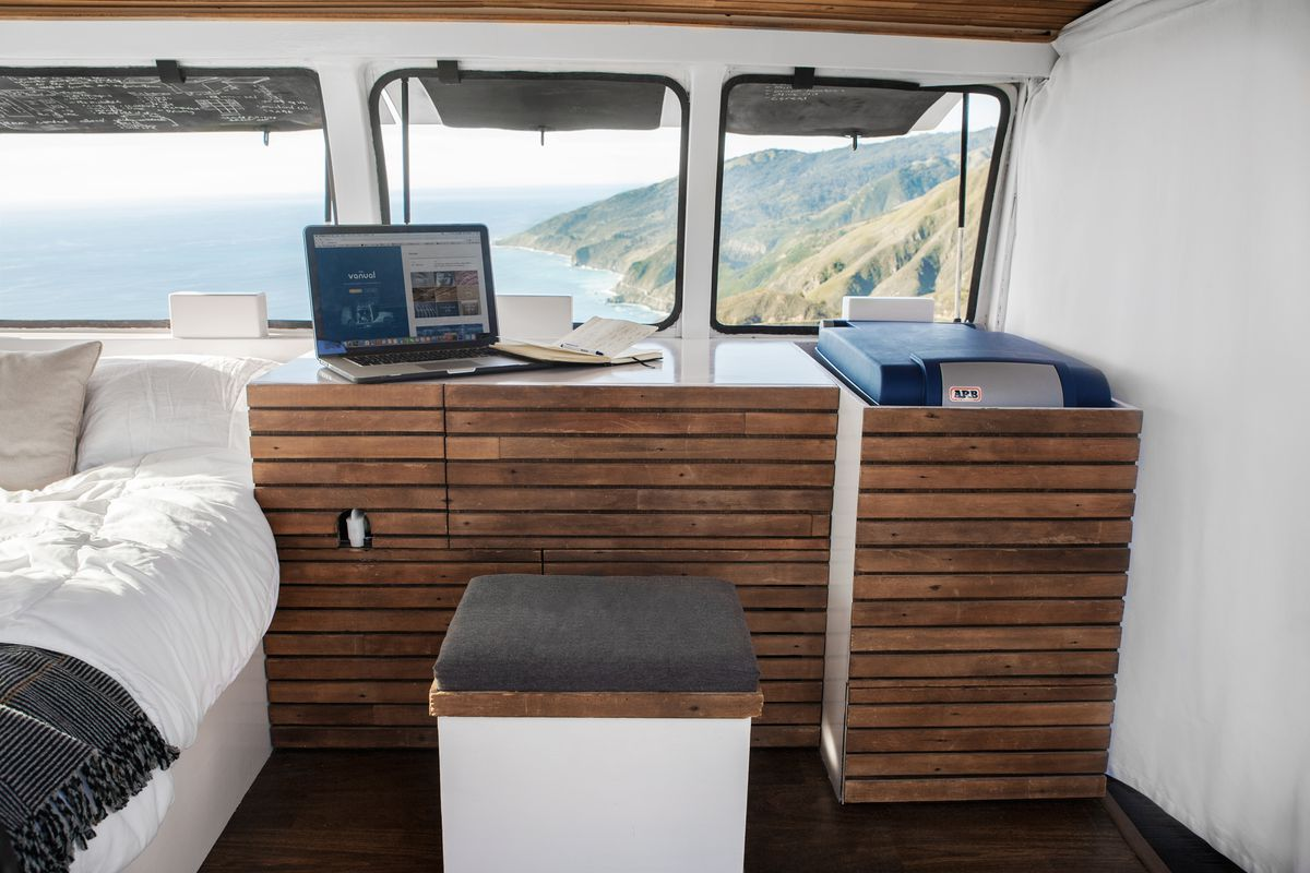 Tour a Chevy van turned into sleek, tiny live-work space