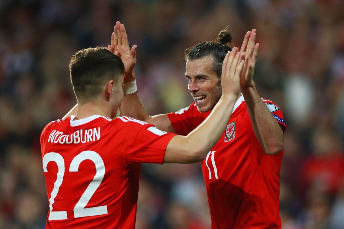 Ben Woodburn and Gareth Bale high-five