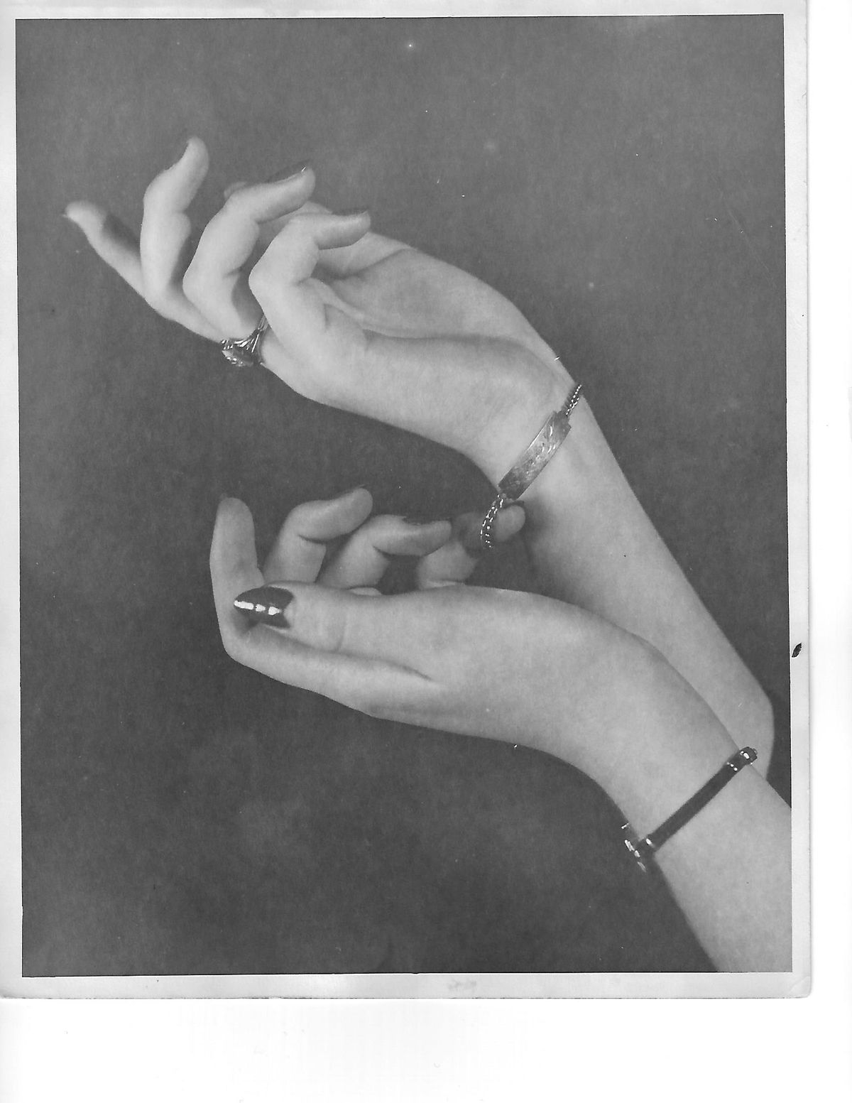 Jerrie Elder's hand-modeling sometimes advertised jewelry. | Supplied photo