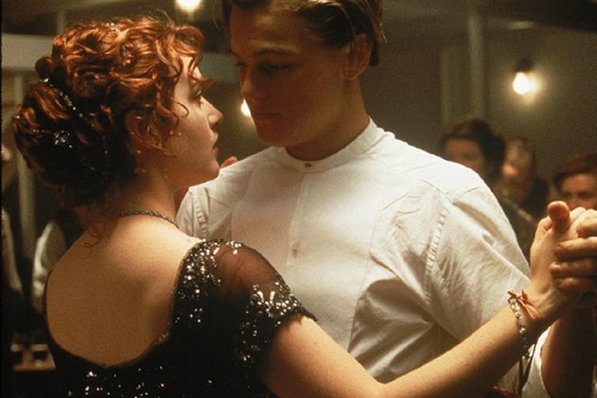 Jack and Rose on the Titanic, via IMDB