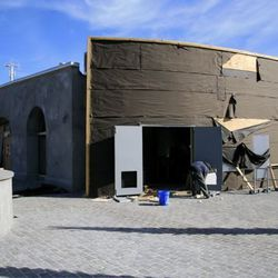 Back of the building