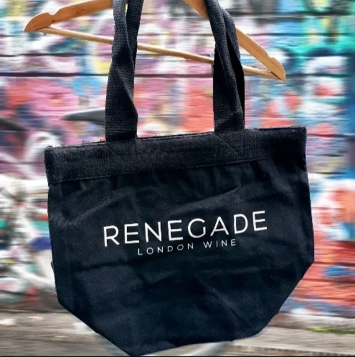 The best London restaurant merch to buy right now includes this grey tote bag from Renegade Urban Winery