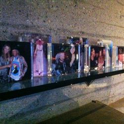 Goldstein's personal party photos lined the walls