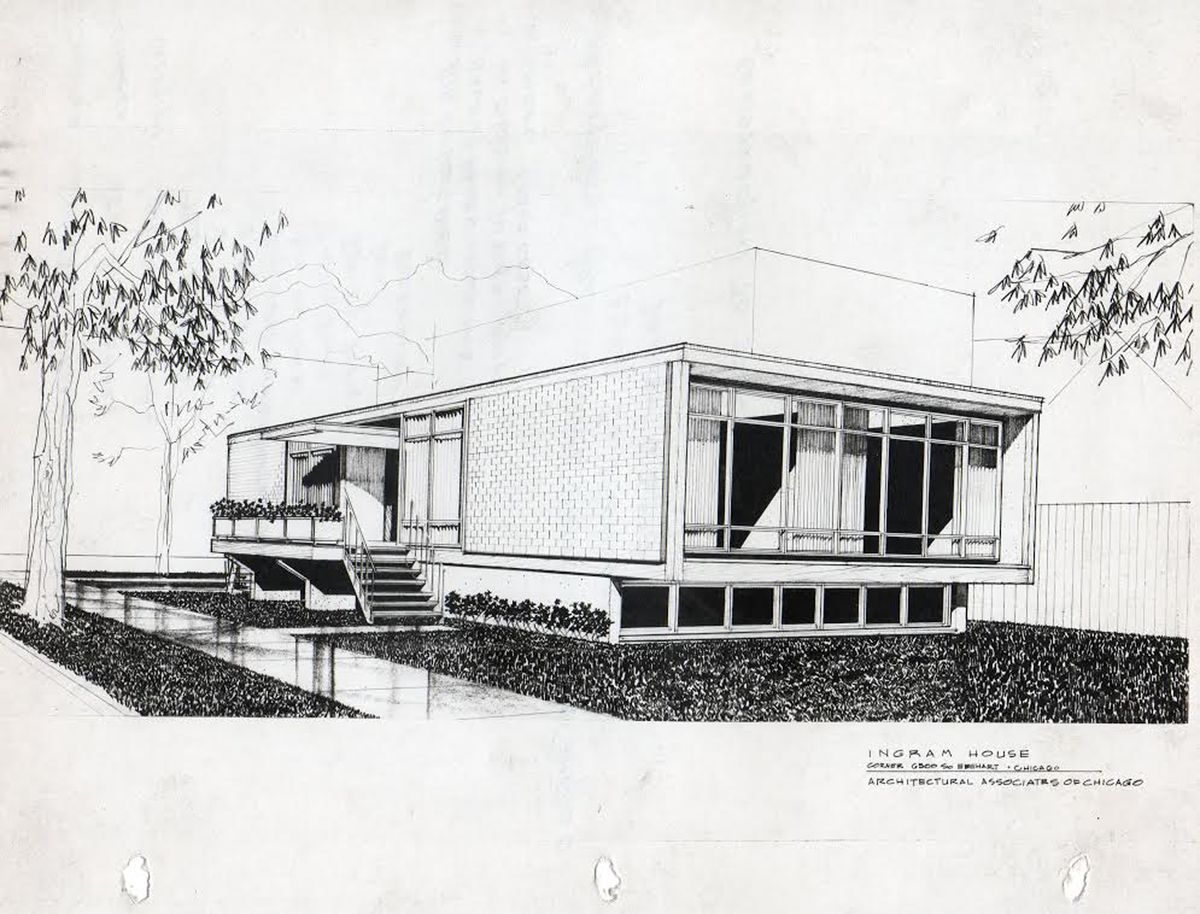 The home at 6500 S. Eberhart was designed by Roger Margerum.