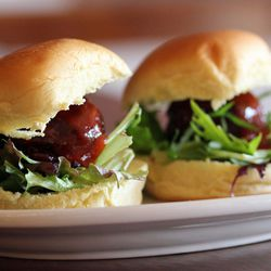 """Ancho chili beef sliders from Queens Comfort in Astoria, by <a href=""""http://www.flickr.com/photos/bradleyhawks/8436675241/in/photostream/"""">Amuse*Bouche</a>."""