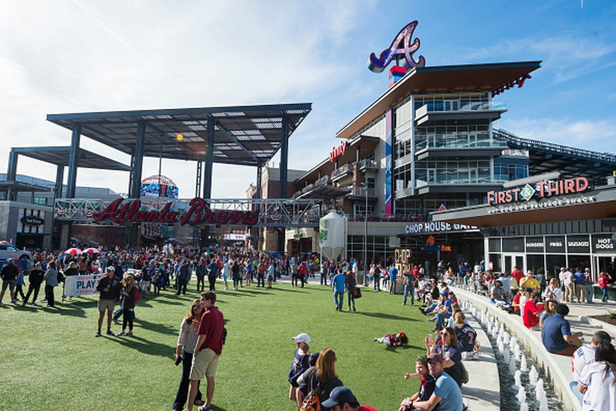 The Battery and Fan Plaza before the game against the Philadelphia Phillies at SunTrust Park.