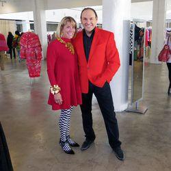 "Arizona-based vintage vendors <a href=""http://www.fashionbyrobertblack.com"">Robert Black</a> (right) and Doreen Picerne."