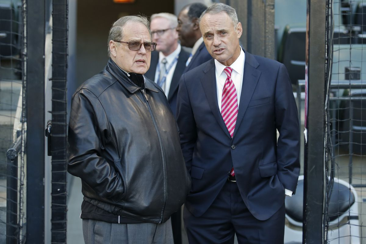 Frenemies Chicago White Sox Owner Jerry Reinsdorf and MLB Commissioner Rob Manfred
