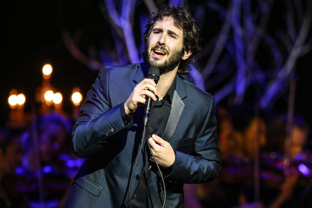 Josh Groban performs at the Dolby Theatre in Los Angeles. Groban is one of many musicians performing from home as the COVID-19 pandemic has shut down venues throughout the world.