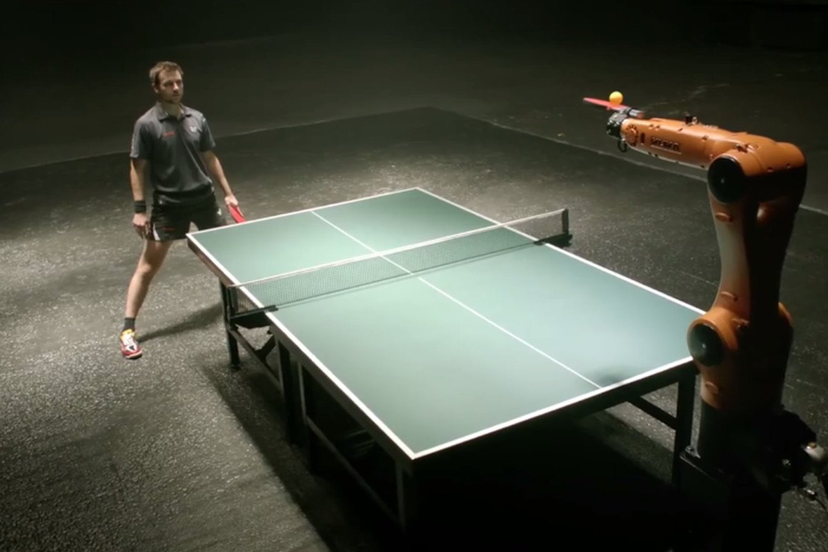 German ping pong champion to play against industrial robot next