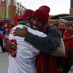 A special moment for Kristoff Williams with his dad