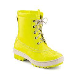"<b>Sperry Top-Sider</b> Zermatt Snow Boot by Jeffrey in neon yellow waterproof patent, <a href=""http://www.sperrytopsider.com/store/SiteController/sperry/productdetails?catId=cat90048DM&subCatId=cat100156DM&showDefaultOption=true&stockNumber=9019423&skuId"