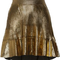 """Coated ribbed cotton mini skirt, $65 (was $425) via <a href=""""http://www.theoutnet.com/en-US/"""">The Outnet</a>"""