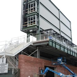3:35 p.m. Behind the right-field video board -