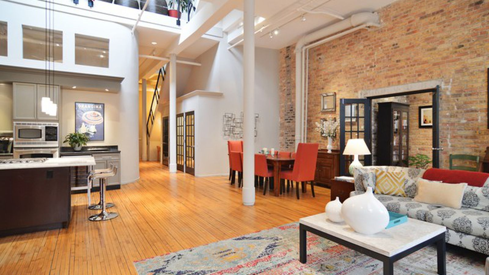 Bright three bedroom lakeview duplex loft asks 625k for Hathaway furniture new york