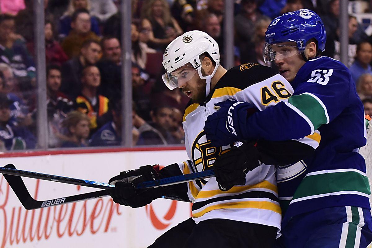 NHL: Boston Bruins at Vancouver Canucks