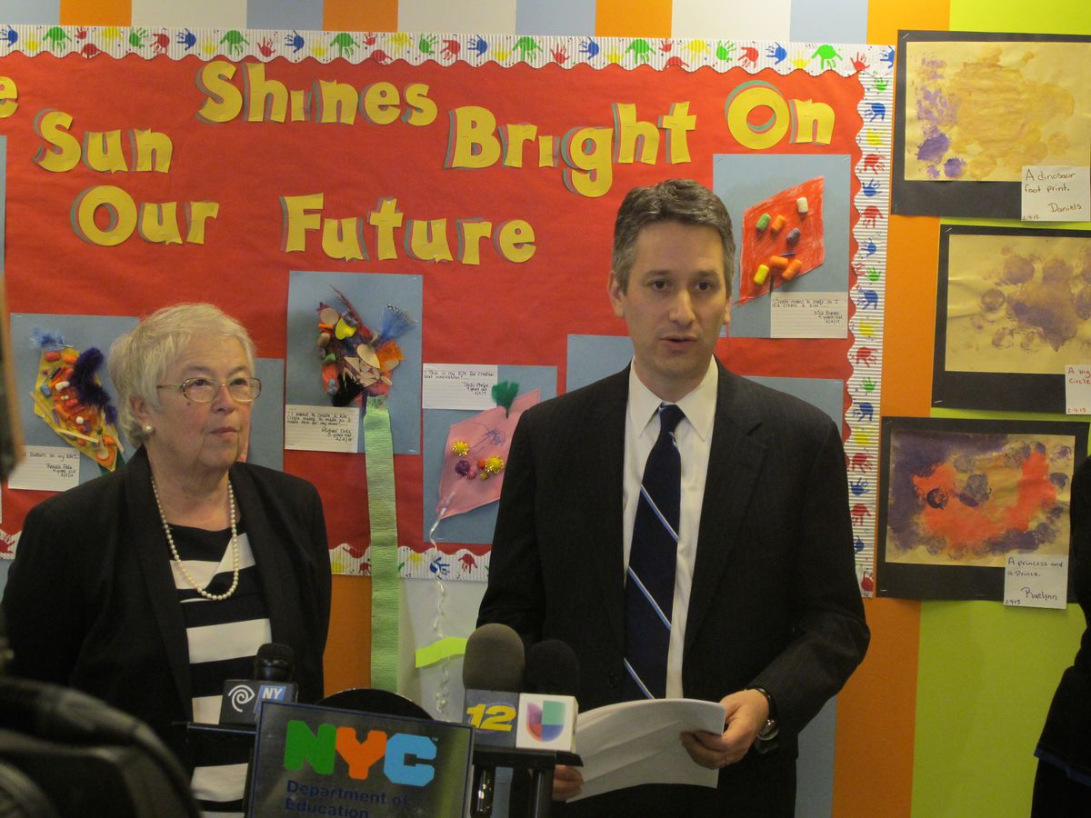 Chancellor Carmen Fariña with her chief strategy officer, Josh Wallack, who led a review of the city's school-support structure last year.