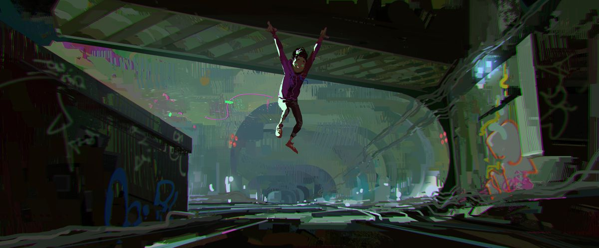 Spider Man Into The Spider Verse S Art Style We Go Behind The