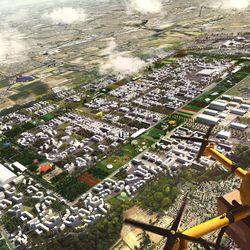 Hawkins\Brown's Heathrow City drone-port