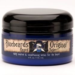 """This daily skin and facial hair lotion also acts as an anti-itch treatment, and conditioner for new hair growth. <strong>Bluebeards Original</strong> Beard Saver, <a href=""""http://www.shopmiomia.com/products/beard-saver"""">$25</a> at Miomia"""