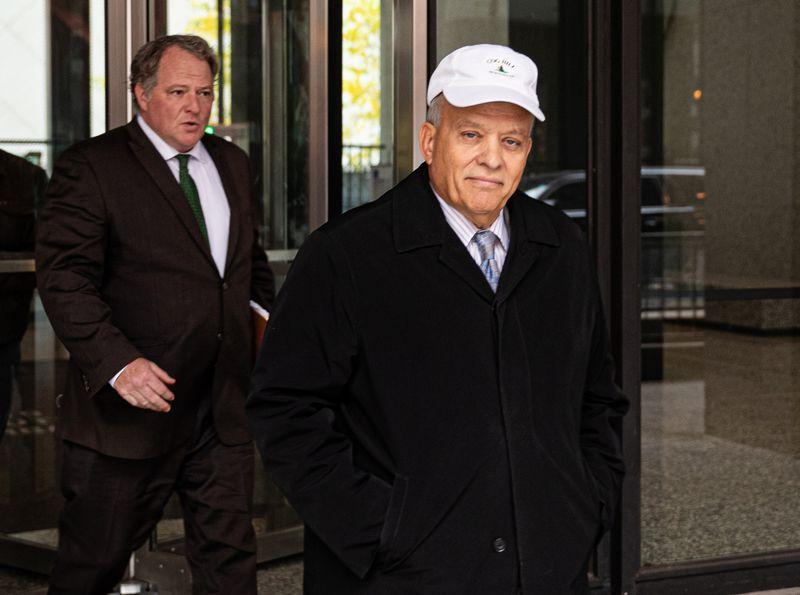 State Rep. Luis Arroyo leaves the Dirksen Federal Building in October.