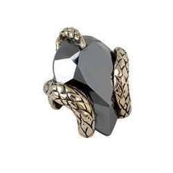 "Roberto Cavalli stone snake jewel, <a href=""http://store.robertocavalli.com/us/robertocavalli/ring_cod50136537np.html"">$150</a>, Roberto Cavalli at Crystals"