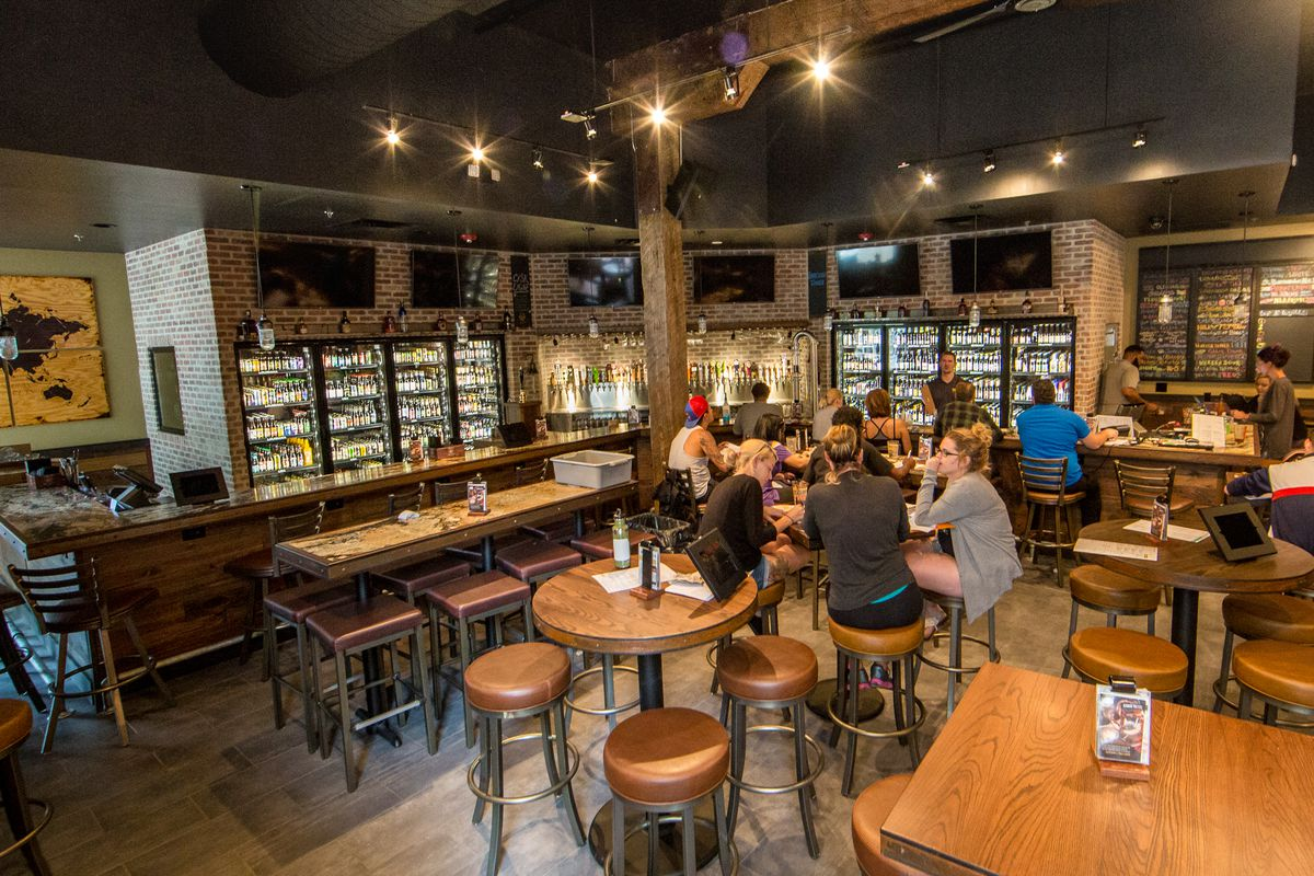 Inside World of Beer in the Warehouse District