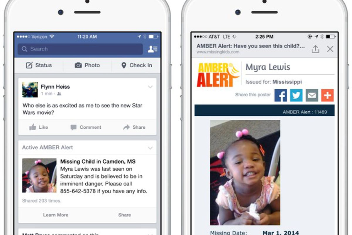 Facebook Now Sends Out Amber Alerts in News Feed