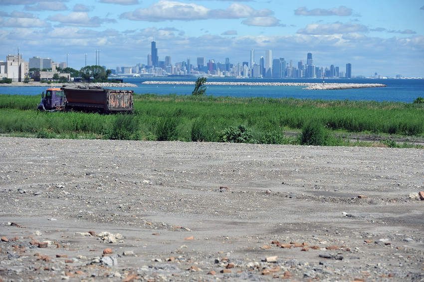 A view of downtown Chicago from the old South Works site.   Sun-Times file photo