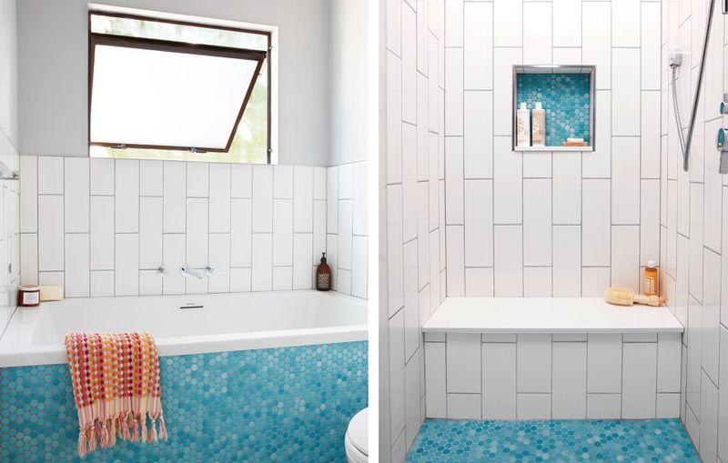 Summer 2021 Before & After Bath, tub, shower niche