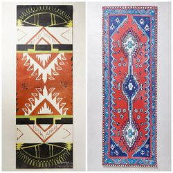 """<b>A yoga mat</b>. And if you're going to be using it a lot, it might as well be pretty. Magic Carpet Yoga Mats, <a href=""""http://www.anthropologie.com/anthro/product/home-giftswelove/28394104.jsp#/"""">$98</a> each at Anthropologie"""