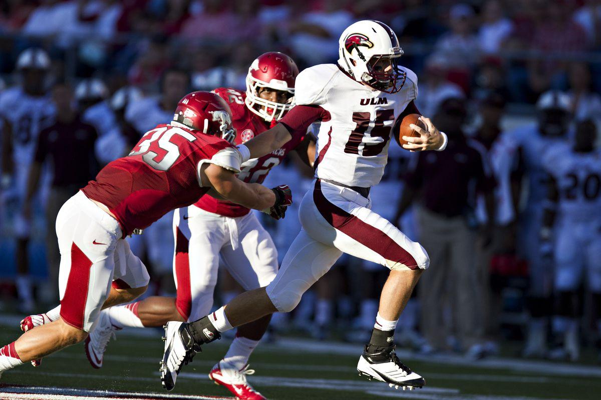 2012 UL Monroe Vs. Arkansas Highlights: Kolton Browning ...