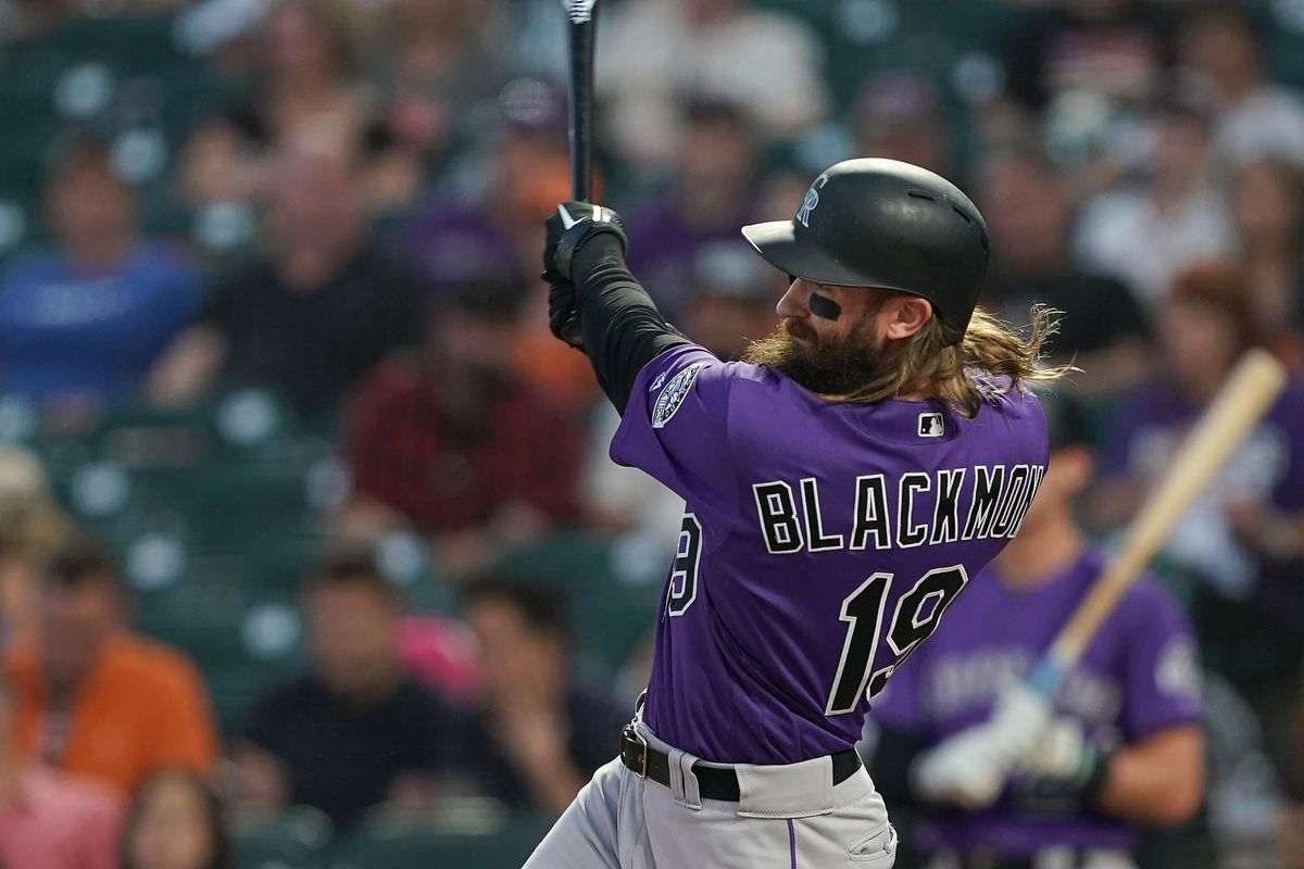 Charlie Blackmon of the Colorado Rockies bats against the San Francisco Giants in the top of the first at Oracle Park on September 25, 2019 in San Francisco, California.