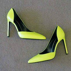 Saint Laurent Aimee heels, $595
